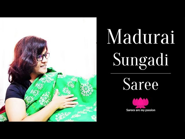 73 Madurai Sungadi Cotton Saree from TamilNadu | தமிழ்நாட்டின் மதுரை சுங்கடி புடவை