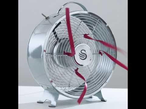 Swan Retro 8 Inch Clock Fan – Cinemagraph Ribbons