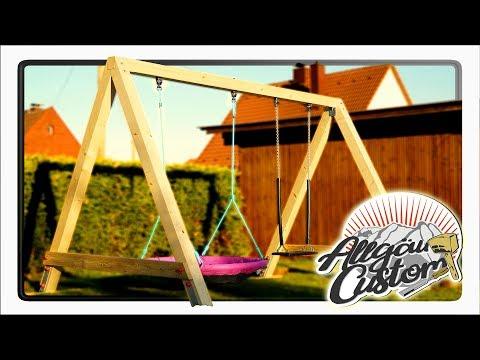 Schaukel selber bauen / Kinderschaukel / Massiv aus KVH
