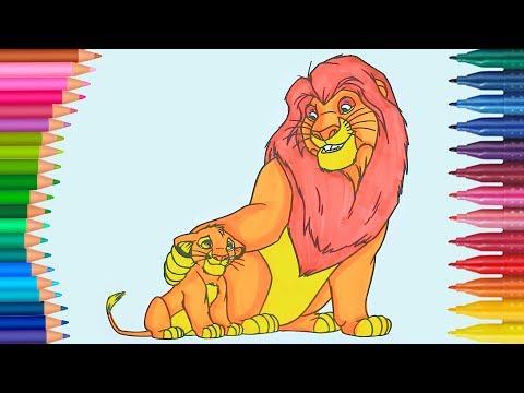 König der Löwen | Wie zeichnet und färbt | Kleine Hände Malbuch