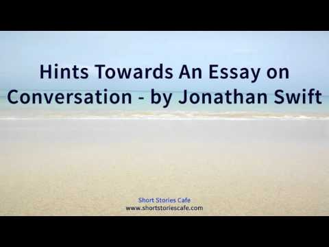 Hints Towards An Essay on Conversation by Jonathan Swift