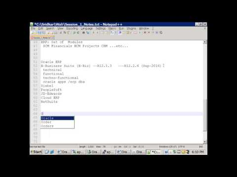Oracle ERP Demo Session - YouTube