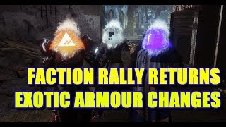 Destiny 2: Faction Rally Updates! | 26th June | Exotic Armour updates incoming!