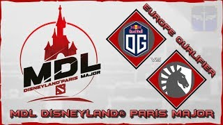 OG vs Team Liquid / MDL Disneyland® Paris Major / Dota 2 Live