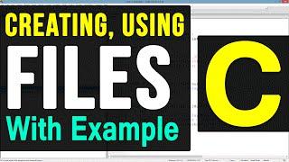 File Handling in C Programming Language Video Tutorial