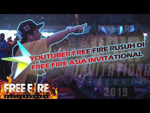 KEMAS PAKE Z DAN TEMAN2 YOUTUBER RUSUH DI TURNAMEN FREE FIRE ASIA INVITATIONAL JAKARTA 2019