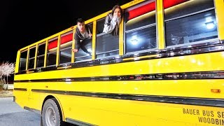 TRAPPED OVERNIGHT IN A SCHOOL BUS!