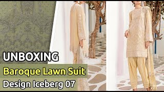 2df63a2ab8 Latest BAROQUE Lawn Suit 2019 | Unboxing of New Pakistani Dress Design  iceberg 07| Unbox