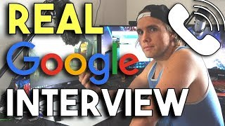WHAT A REAL GOOGLE INTERVIEW IS LIKE - THE FIRST STEP