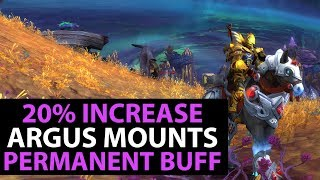 World Of Warcraft Legion Patch 7.3 - ARGUS PATHFINDER - BOOST YOUR MOUNT SPEED NOW!!