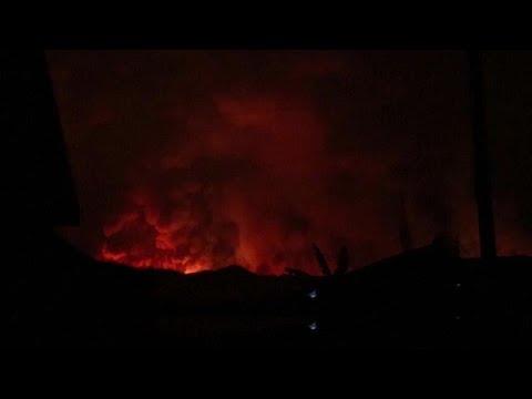 Erupção vulcânica no Congo leva à evacuação de Goma