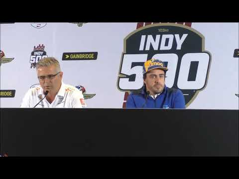 Indy 500 Alonso and De Ferran Post-Qualifying Q&A