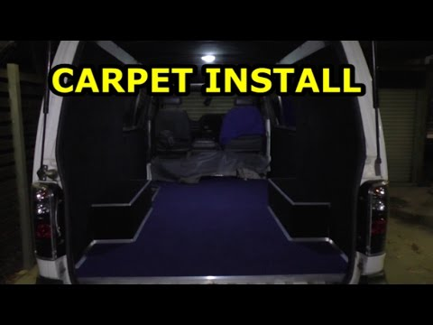 The HIace VAN LIFE: Part 5: Carpeting
