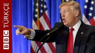 Trump, CNN muhabirine soru hakkı vermedi - BBC TÜRKÇE