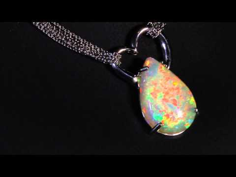 Pear Shaped Opal Necklace 9.31 Carat