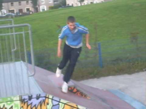 Adrian Running Around Skate Park {2}