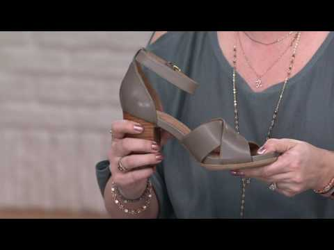 4f8860766 Clarks Artisan Leather Block Heel Sandals - Briatta Tempo on QVC