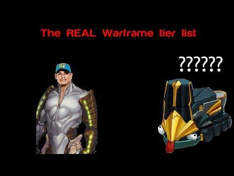 The REAL Warframe Tier List