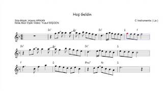Nota Akor Eşlik -  Hoş Geldin - C Instruments ( La )