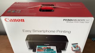 CANON MG3650 WIRELESS UNBOXING, PRINT TEST REVIEW