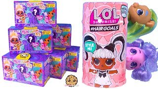 Hairdorables PETS Surprise Blind Bags + Hair Goals LOL Surprise ! Cookie Swirl C Video