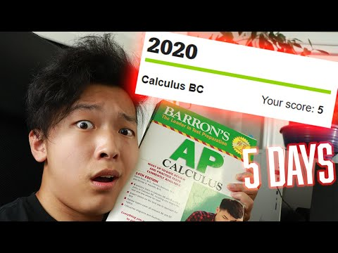 How I Learned AP Calculus BC in 5 DAYS and got a 5 (Ultralearning HACKS)