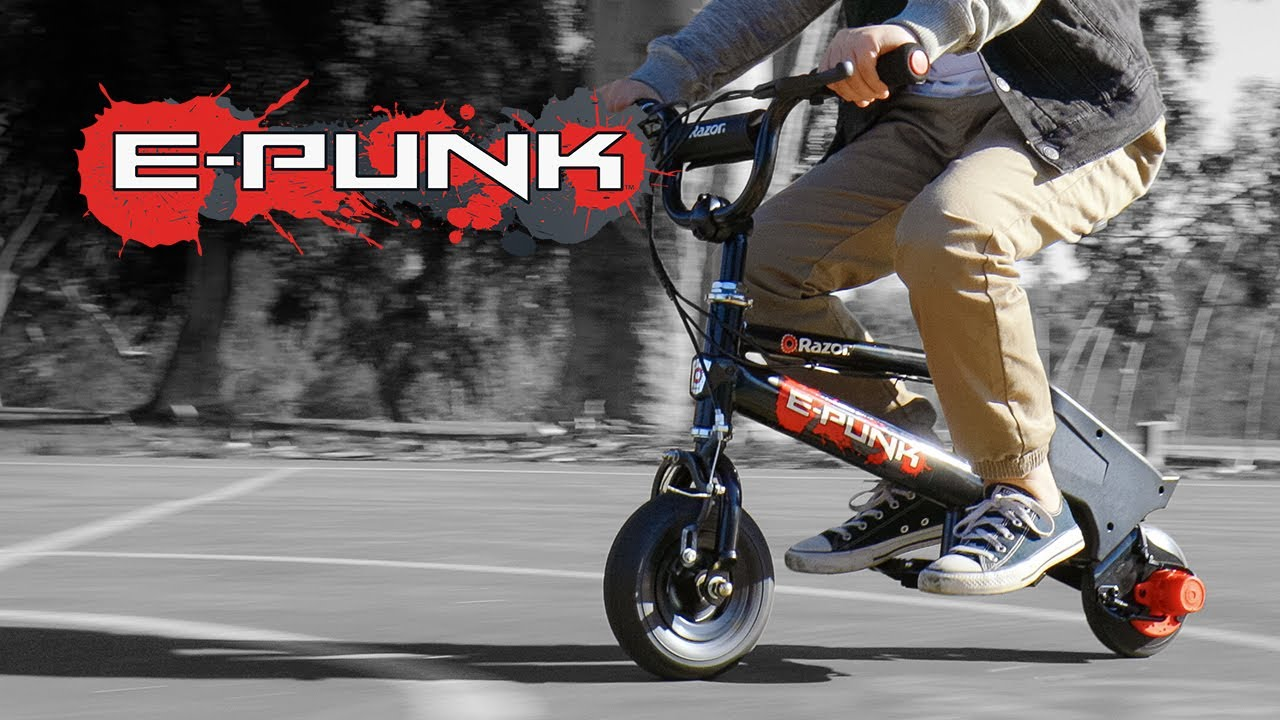 Razor E-Punk Electric Mini Bike Ride Video