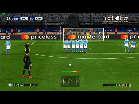 Manchester City vs Real Madrid | C.Ronaldo Free Kick Goal & Full Match | PES 2017 Gameplay PC
