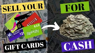WHERE TO SELL YOUR GIFT CARDS FOR CASH!
