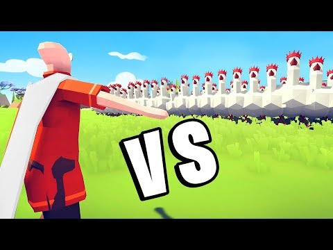 TABS - Can One Punch Man Defeat 1,000 Chickens? - Totally Accurate Battle Simulator Mods (видео)