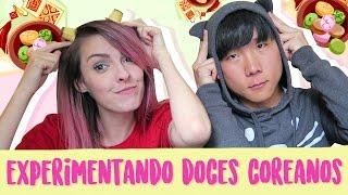 EXPERIMENTANDO DOCES COREANOS! Feat CHEON   Karen Bachini