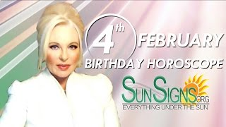 Birthday February 4th Horoscope Personality Zodiac Sign Aquarius Astrology