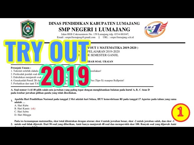 SOAL TRY OUT MATEMATIKA 2019 (1)