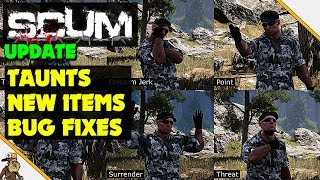 Scum - Scum Update round up (Taunts, New Items and bug fixes)