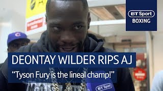 Deontay Wilder drops bombs on Anthony Joshua |