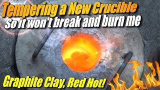 How to Temper a Graphite Clay Crucible for Metal Casting at home