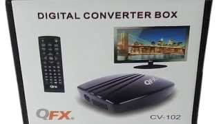 QFX CV-102 Digital Over The Air Converter Box TV Tuner With USB For Playing Or Recording