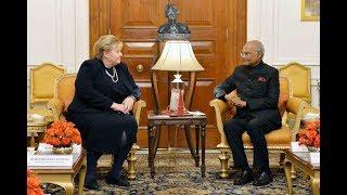 Ms. Erna Solberg, Prime Minister of Norway, called on President Kovind at Rashtrapati Bhavan