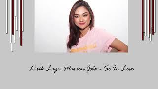 Marion Jola   So In Love  (Lyrics)