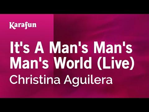 It's A Man's Man's Man's World (Live) - Christina Aguilera | Karaoke Version | KaraFun