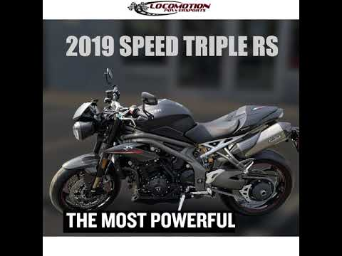 2019 Triumph Speed Triple RS in Mahwah, New Jersey - Video 1