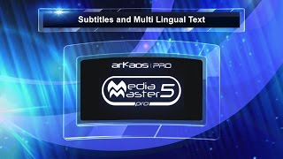 ArKaos MediaMaster Video Tutorial - 8. MediaMaster 5 Multi Lingual Subtitles and Lyric Effects