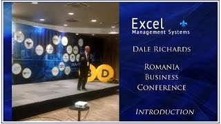 Dale was Key Note speaker in Romania Business Conference with 50 speakers