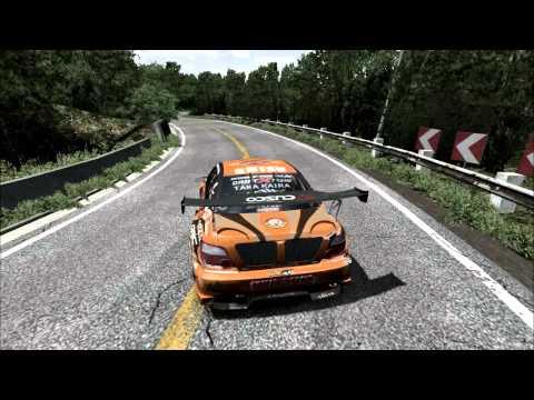rFactor AKAGI DOWNHILL DRIFT RUN - NSX Turbo - смотреть
