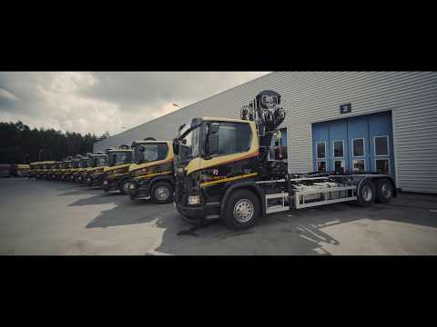 Z-boomed KESLA cranes on Scania