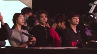 [4K] 181014 강동선사문화축제 Stray Kids 대기 fancam (with 아모르파티)
