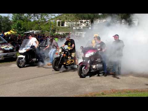 Burn out bij treffen Holland 2010 in Wanroij