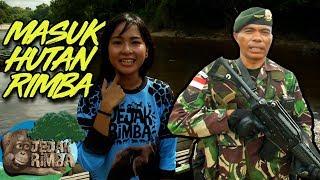 Keren!! Kak Dio Melewati Hutan Belantara Bersama Kakak TNI