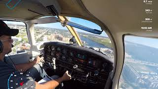 Landing at Naples Airport for Solo Cross Country
