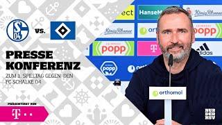 Die Pressekonferenz vor Schalke 04